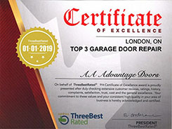 AA Advantage Doors Three Best Rated Certificate of excellence 2019