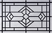 Temple short panel garage door window designer lites