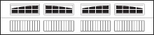 2-2 piece arched stockton garage door windows