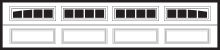 4 Piece Arhced Madison long garage door windows
